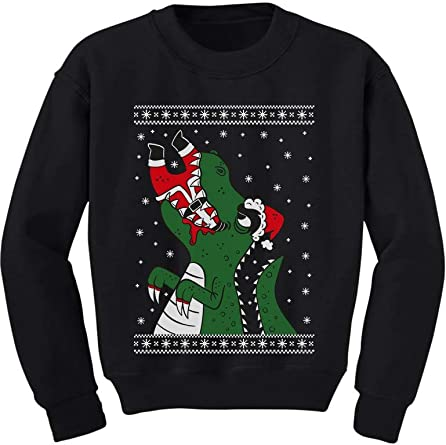 Santa Claws Ugly Christmas Sweater Cat Youth Kids T-Shirt Gift