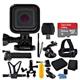 GoPro HERO Session + Medium Carrying Case + Floating Handle + 64GB Micro SD Memory Card + Monopod + Card Reader + Head Strap + Chest Strap + Hand Strap + Suction Cup Mount + Deluxe Accessory Bundle