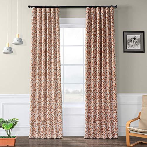 HPD HALF PRICE DRAPES BOCH-KC104B-108 Nouveau Blackout Room Darkening Curtain, 50 X 108, Tan