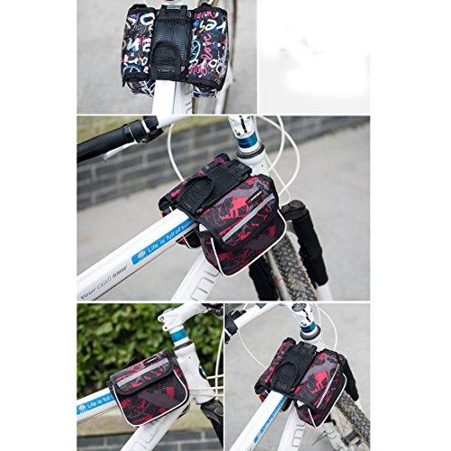 lerben Multifunktional outdoor Radfahren Rahmen Tasche Fahrrad Top Tube Tasche vorne Lagerung Double Tasche violett zJriL3fq