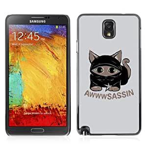 YOYOSHOP [Funny AWWWSASSIN Kitti Cat] Samsung Galaxy Note 3 Case by lolosakes