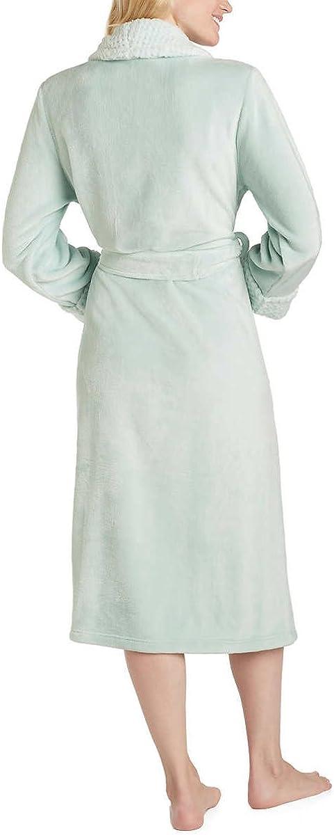 Carole Hochman Ladies' Plush Wrap Robe Mint Green