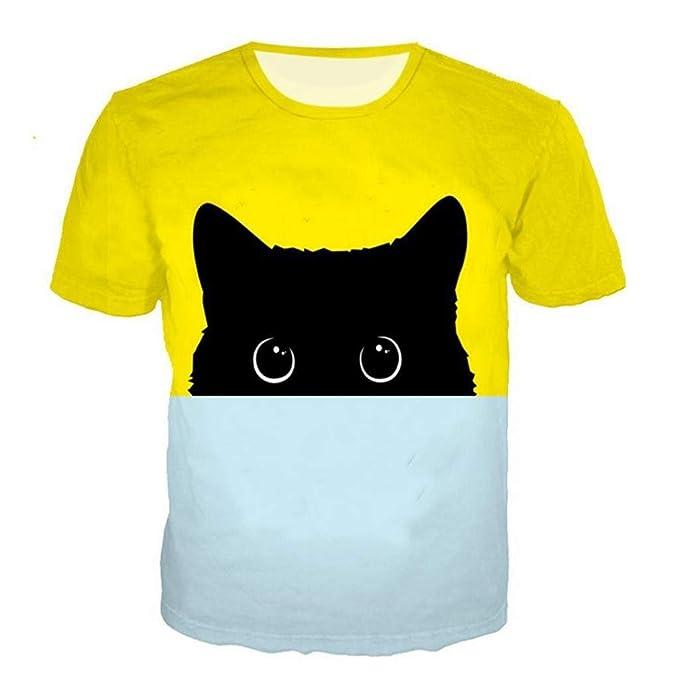 Camisetas Hombre Divertidas Manga Corta Tallas Grandes Camisa de Deporte Originales Impresión 3D Tops de Basica Cuello Redondo Polos Sudaderas Blusa ...