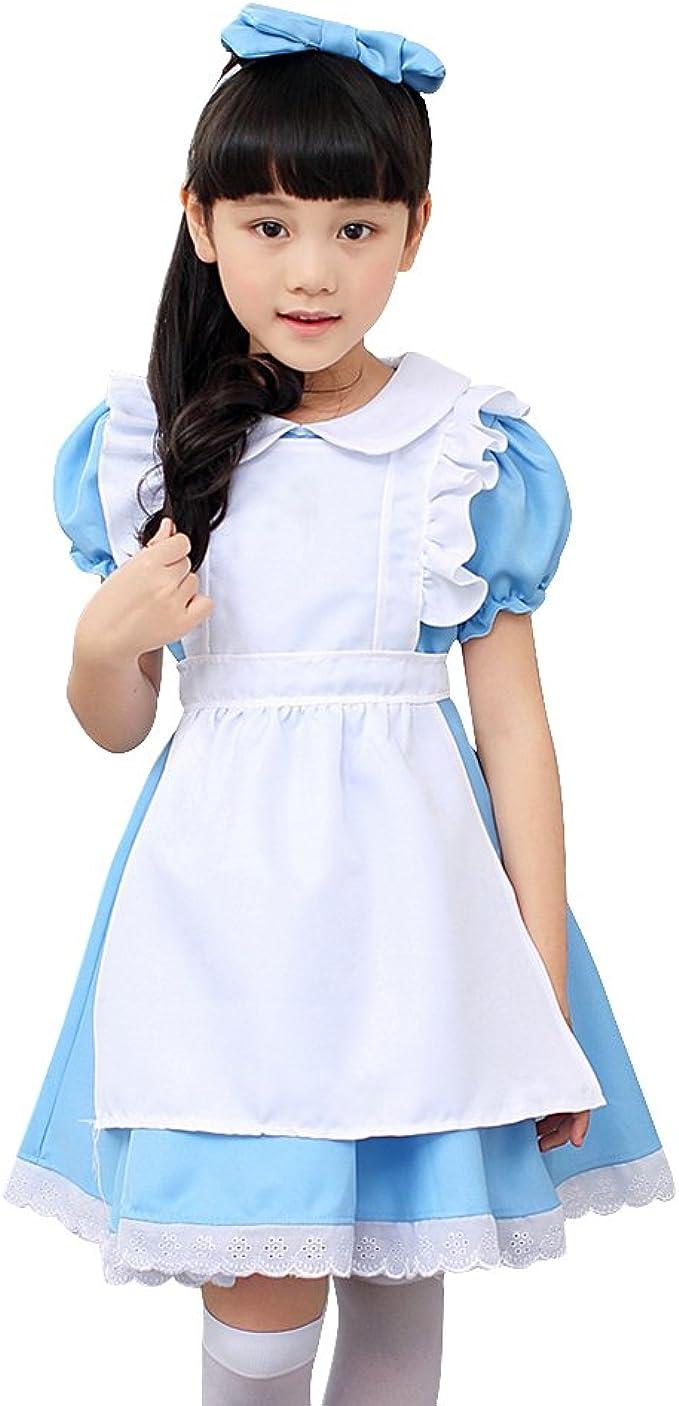 Alice In Wonderland baby Girl Fancy Dress Lolita Costume Halloween Kids/'Outfit