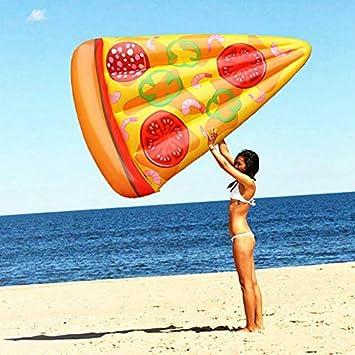 Nouvelle Rangée Flottante De Pizza Jouets Gonflables, Jouets Aquatiques De Lit Flottant De Pizza -180x150x18cm