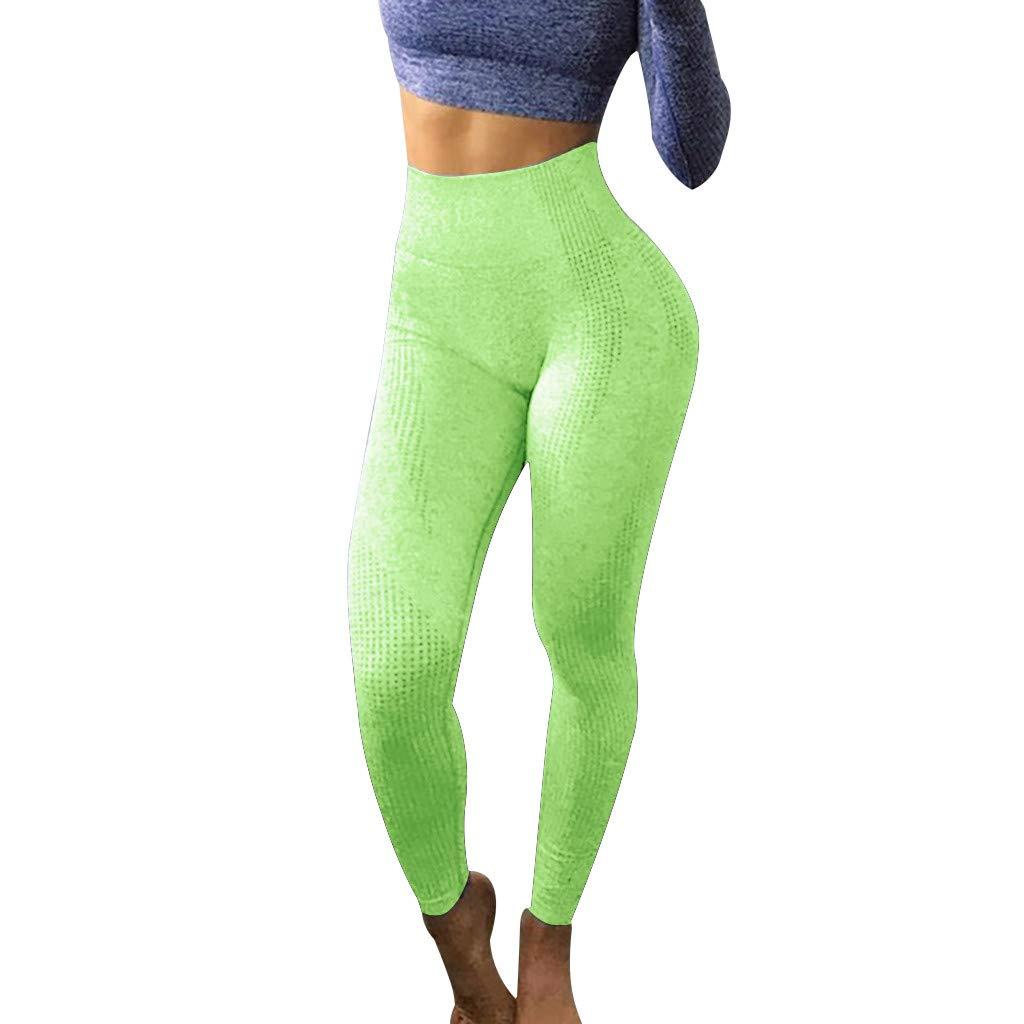 Jimmkey_Clothing Pantalones de yoga para mujer, cintura alta ...
