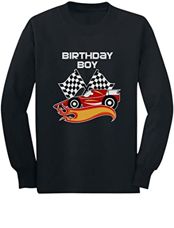 Gift For Birthday Boy Racing Car Racer Toddler Kids Long Sleeve T Shirt
