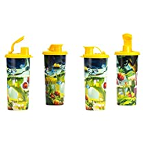 Signoraware Tree House Plastic Sipper 500ml Set of 4 Yellow