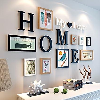 HJKY cornice foto muro camera da letto ristorante muro 3d 3d adesivi ...