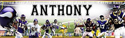 Personalized Minnesota Vikings Banner Birthday Poster Custom Name Painting