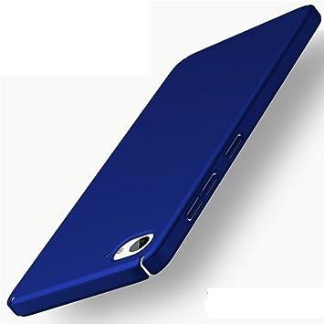 Apanphy ZUK Z2 Carcasa, Alta calidad Ultra Slim Hard sedoso Scrub Shell plena protección trasera piel siento cover para ZUK Z2 Azul