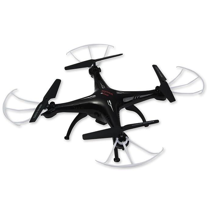 Syma X5SC-1 Drone Falcon Cuadricópteros RC (360 Grados, 4CH 6 Axis, 2.4G, 720P Cámara ,Flashing Lights LED Colorido, Fotográfica Aérea) - Negro