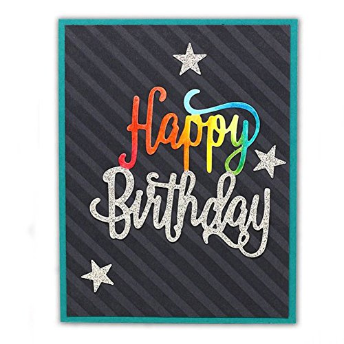 Bluelans Cutting Dies Stencil Metal Mould Template for DIY Scrapbook Album Paper Card Making (Happy Birthday Cutting Dies) by Bluelans (Image #2)
