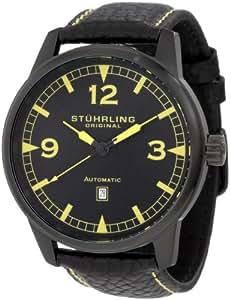 Stuhrling Original Men's 129XL.335565 Aviator Tuskegee Warhawk Automatic Date Black Watch