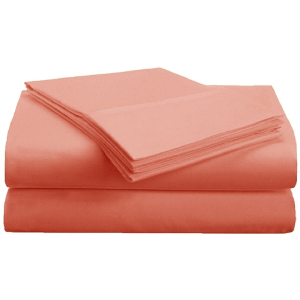 Superior 1500 Series Premium Quality 100% Brushed Soft Microfiber 4-Piece Queen Coral