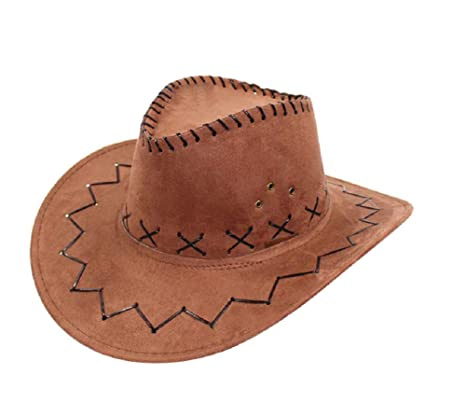 Marrone - Cappello - Cowboy - Cowgirl - Far West - Western - Rodeo - Saloon a30dae7125e6