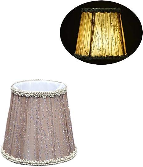 Elegante paralume in tessuto, realizzato a mano, per lampada