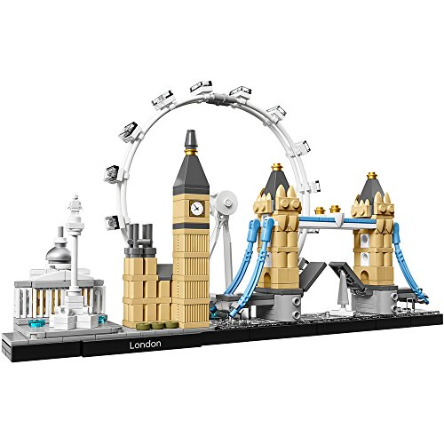 Collectible Display Set - LEGO Architecture London Skyline Collection 21034 Building Set Model Kit and Gift for Kids and Adults (468 pieces)