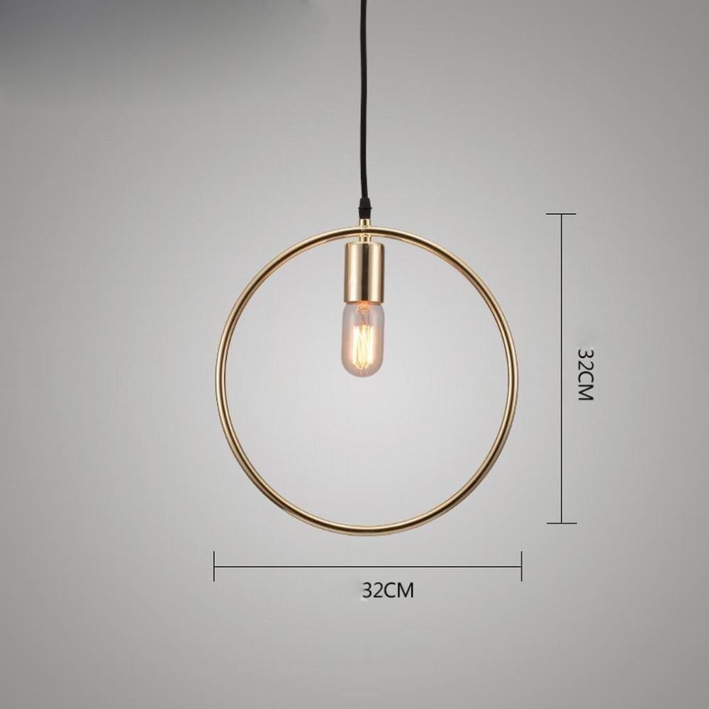 DEN Nordic coffee restaurant chandelier Modern minimalist bar clothing store single head chandelier,B,Single head