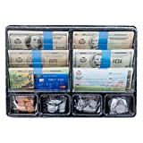 Learn & Climb Play Money Set for Kids - Realistic Dollar Bills, Coins, Credit & Debit Cards & Checkbook. Add-on for...