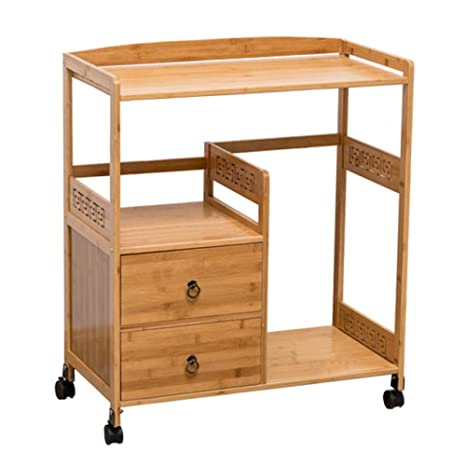 Amazon.com - LIULIFE Storage Serving Trolley Cupboard with ...