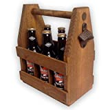 Handcrafted Wooden Beer Carrier/Holder / Tote. Wood Six Pack