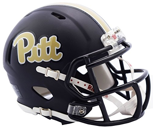 Pittsburgh Panthers Riddell Speed Mini Replica Matte Football Helmet (Helmet Replica Pittsburgh Panthers)