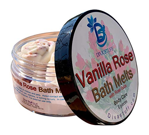 (Vanilla Rose Skin Softening Slow Melt Bath Melts With Cocoa Butter and Shea Butter, Diva Stuff)
