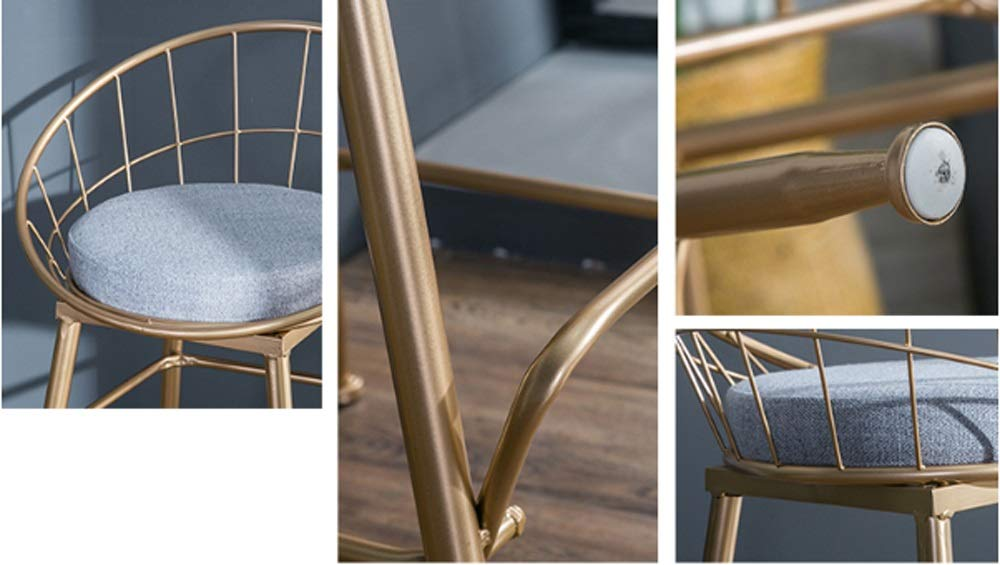 AO-stools Bar Chair Golden Home High Stool Bar Chair Size:95x75x48cm by AO (Image #5)