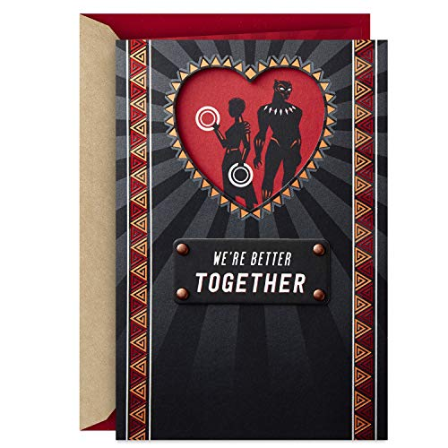 Hallmark Marvel Black Panther Valentine's Day Card for Significant Other (Black Panther and Nakia)