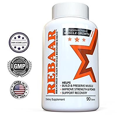 Best Muscle Builder Amino Acids - REBAAR: Branched-Chain Muscle Reinforcement - Top BCAA for Pre-Workout Endurance & Post-Workout Recovery