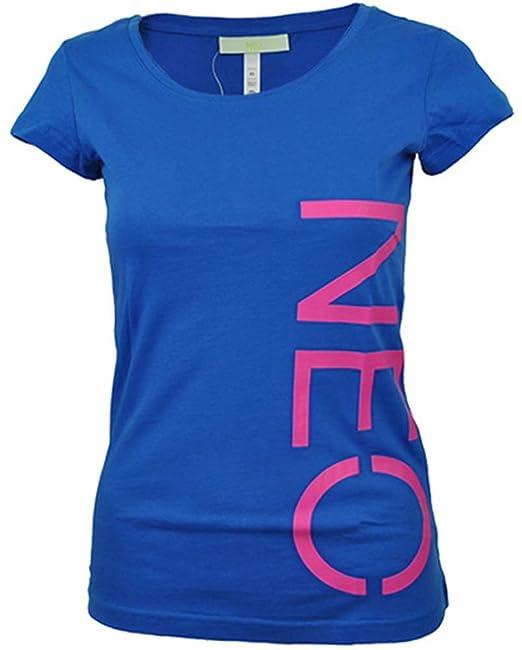 Adidas NEO Camisa del logotipo de las mujeres del ocio camiseta azul, Tamaño:XXS: Amazon.es: Zapatos y complementos
