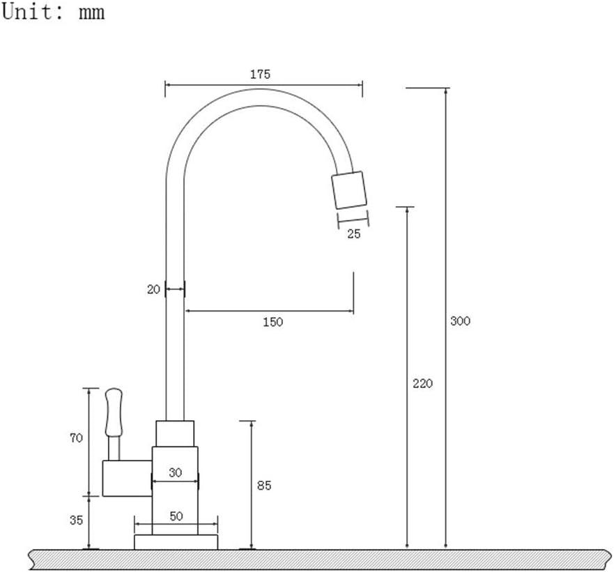ROIY Antique Vertical Bassin Froid Simple Robinet Cuivre Peut /Être Pivot/ée Bassin Europ/éen Retro Lavabo Robinet De Bureau Robinet /Évier De Cuisine