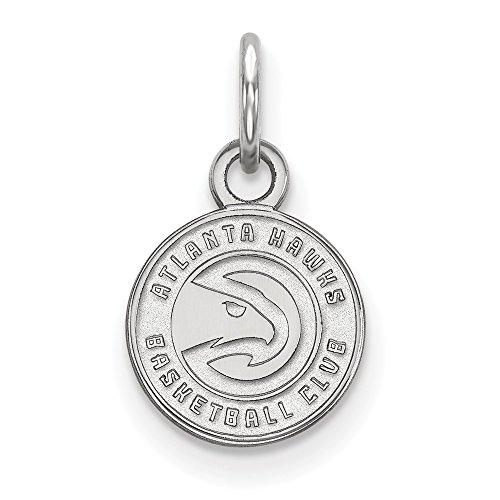 Roy Rose Jewelry 14K White Gold NBA LogoArt Atlanta Hawks X-small Pendant / Charm by Roy Rose Jewelry