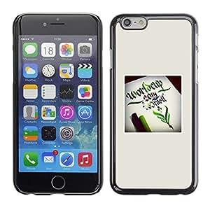 Copa del Mundo verde impresiones Fairytale Inicio- Metal de aluminio y de plástico duro Caja del teléfono - Negro - Apple Iphone 6 Plus 5.5