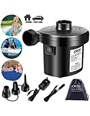 Joycoo Electric Air Pump Air Mattress Pump Airbed Pump Portable Inflate Pump Travel Inflator Deflator for Pools Boats raft Airbeds Inflated Toy AC 240V DC 12V