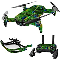 MightySkins Skin for DJI Mavic Air Drone - Peacock Feathers | Max Combo Protective, Durable, and Unique Vinyl Decal wrap cover | Easy To Apply, Remove, and Change Styles | Made in the USA