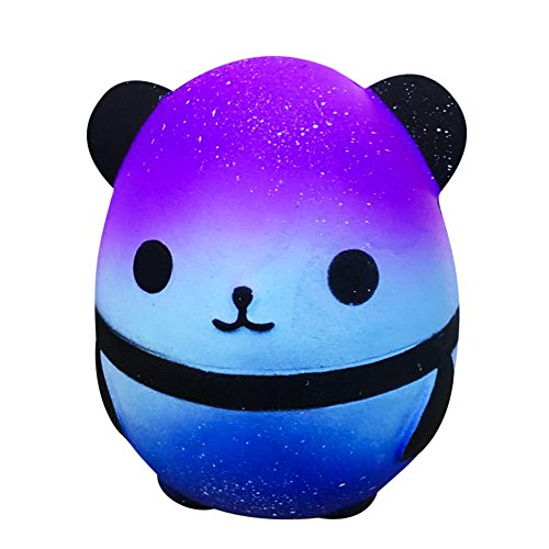Christmas Best Toy Gift!!!Kacowpper Jumbo Galaxy Panda Squishy Slow Rising Kids Toys Collect Doll Stress Relief Toy (Flamingo Shoppen)