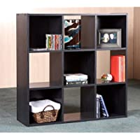Indoor 9-Cube Storage Bookcase Organizer Home Furniture Room Shelves Living New Shelf Bookshelf Unit Wood Office Plenty of storage, Accommodates CDs, books and more (Black)