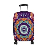 Bohemian Hippie Print Travel Luggage Protector Baggage Suitcase Cover Fits 18-21 Inch Luggage