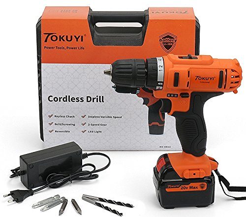 Very impressed with this cordless drill - has low and high speed!