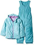 Columbia Little Girls' Frosty Slope Set, Pacific Rim Snow Splatter, 3T