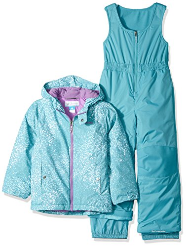 Columbia Little Girls' Frosty Slope Set, Pacific Rim Snow Splatter, X-Small by Columbia