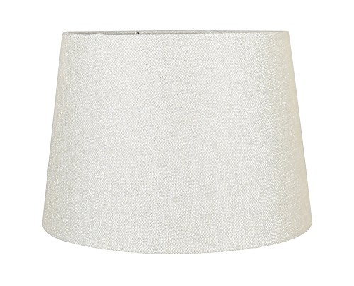 Urbanest French Drum Metallic Fabric Lamp Shade, Metallic Natural, 10-inch by 12-inch by 8 -