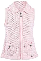 Lilax Little Girls\' Knit Zip Front Closure Vest 2T Pink