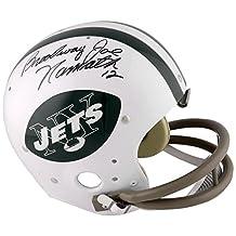 "Joe Namath New York Jets Autographed Replica Helmet with ""Broadway"" Inscription - LOA - JSA Certified"