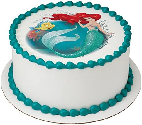 Groovy Ariel Cake Decorations Personalised Birthday Cards Paralily Jamesorg