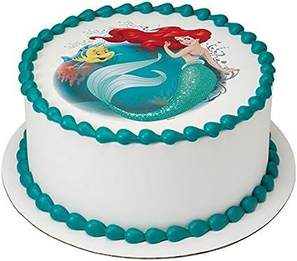 Amazon.com: La Sirenita Ariel con licencia comestible ...