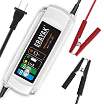 ERAYAK 6V/12V 3A 4A Automatic Car Battery Charger Maintainer for 40Ah 60Ah 80Ah 100Ah 120Ah 150Ah Lead-acid Battery,All types of ATV,lawn mower,motorcycle,automotive,marine,RV,power sport,lawn&garden,AGM,gel cell batteries-C9301/1A C9302/2A C9303/3A C9304/4A C9305/5A C9306/6A
