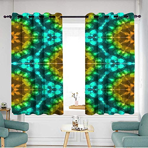 (home1love Grommet Window Curtains Grommet Curtains for Bedroom W 63